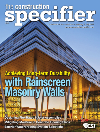 The Construction Specifier magazine Cover