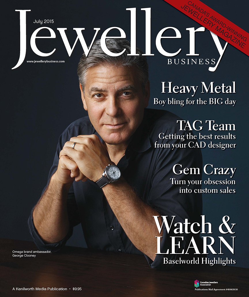 George Clooney featured on Jewellery Business cover | Kenilworth ...