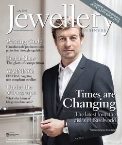 Jewellery Business June/July 2016 cover